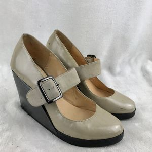 UN United Nude mirrored wedge Nude Mary-Jane Pump